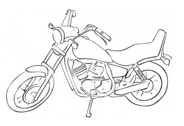 750x512 Printable Motorcycle Coloring Pages For Preschoolers