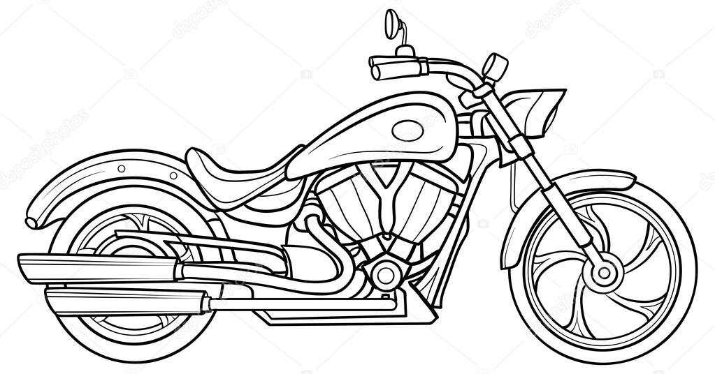1023x536 Sketch Motorcycle Stock Vector Kopirin