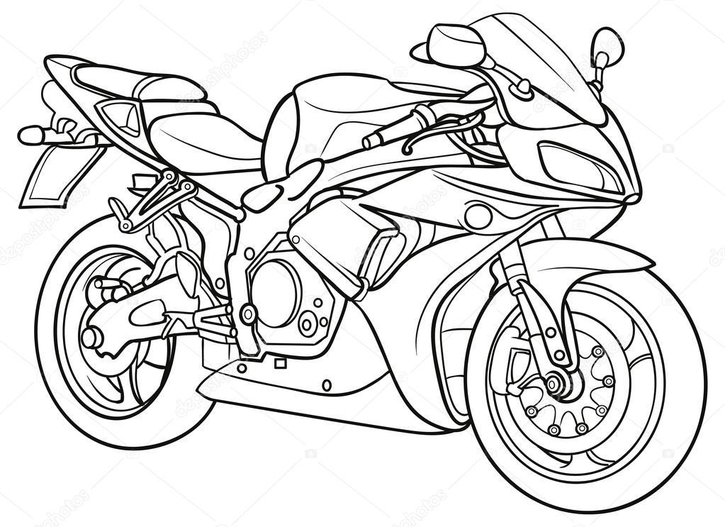 1023x743 Sketch Motorcycle Stock Vector Kopirin