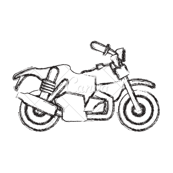 550x550 Vintage Motorcycle Frontview