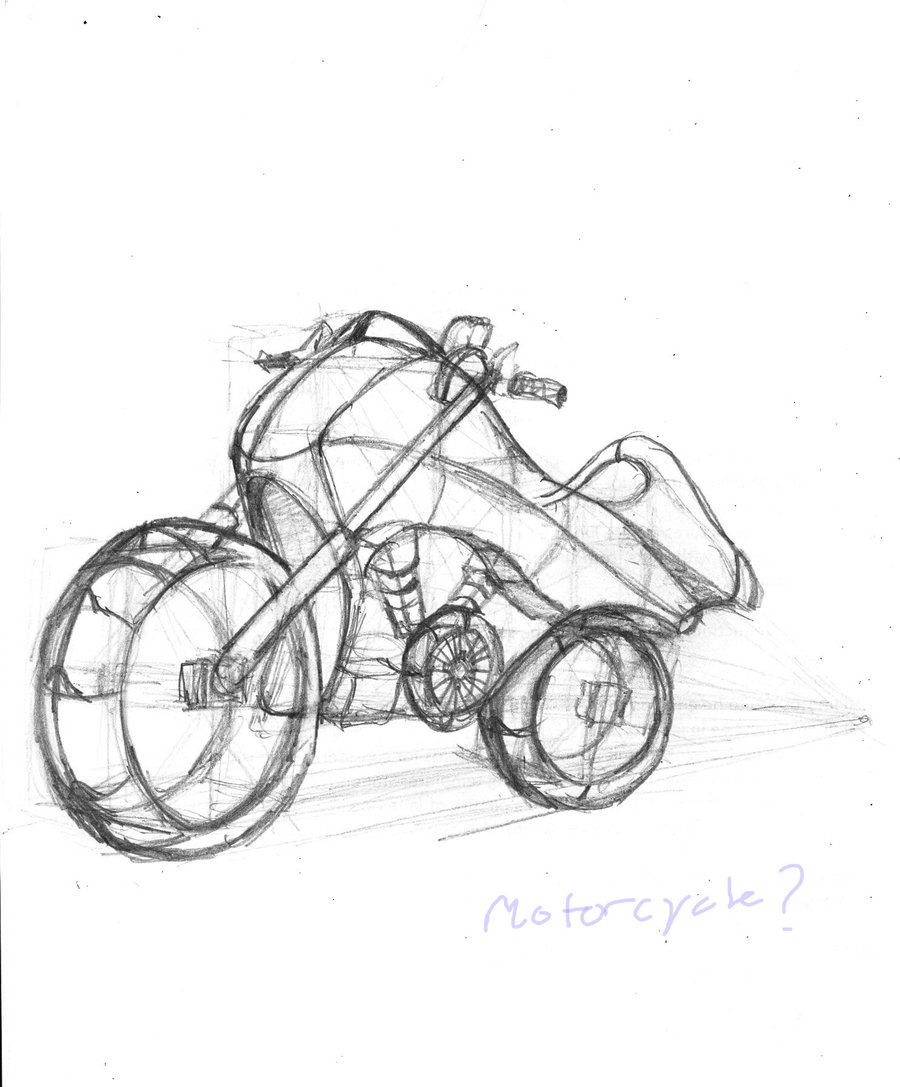 900x1087 Motorcycle Sketch Bycue5