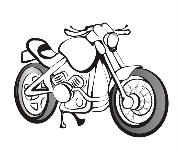 700x589 Motorcycle Sketch In Black Lines Sticker We Live To Change