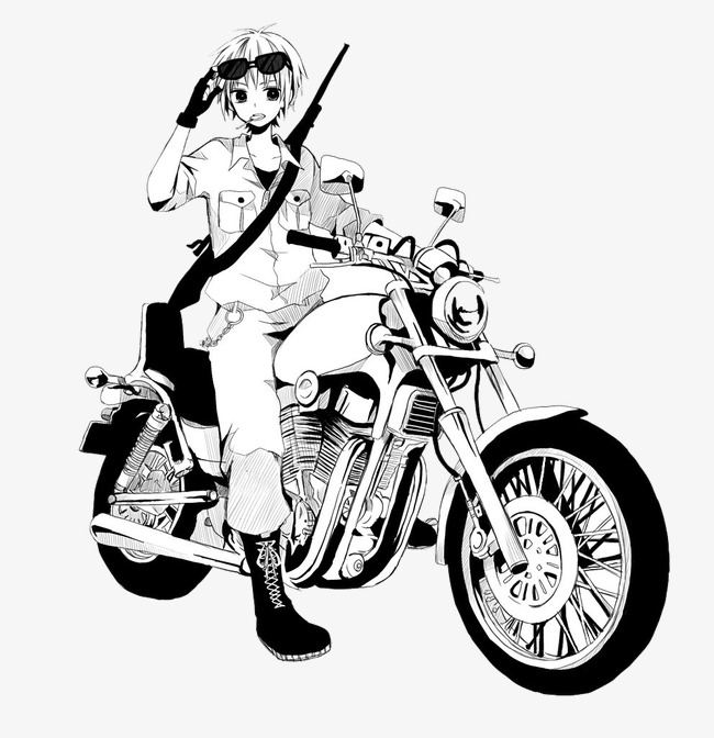 650x672 Boy Riding A Motorcycle, Handsome Boy, Sketch, Black And White