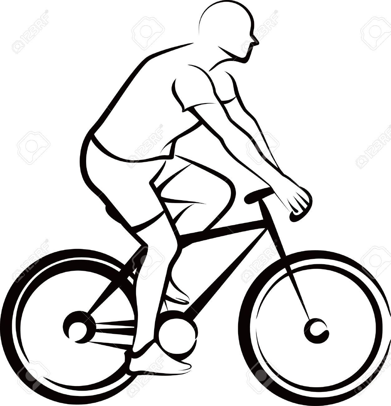 It is a graphic of Obsessed Bike Drawing Simple