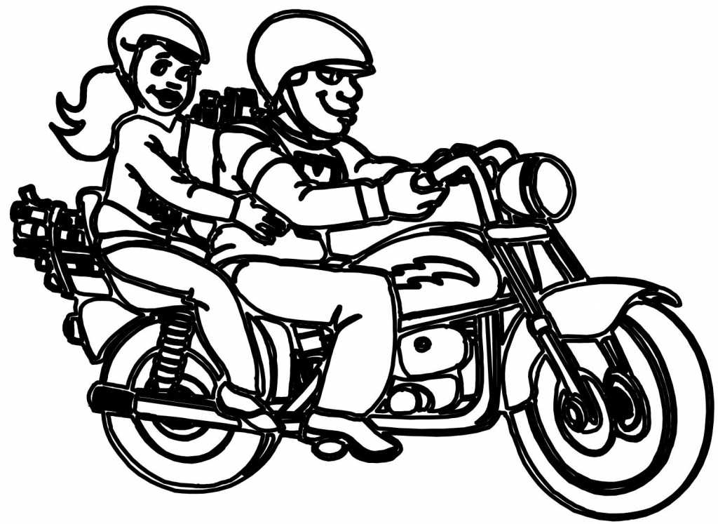 Motorcycle Drawing Simple at GetDrawings.com | Free for personal use ...