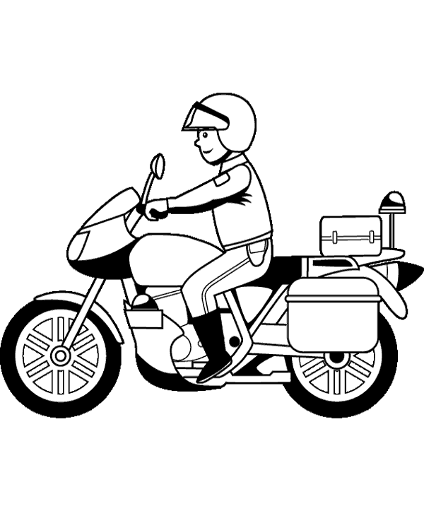 600x740 police motorcycle coloring pages color bros