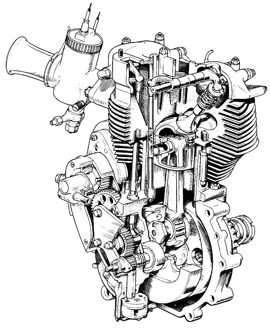 Motorcycle Engine Drawing At Getdrawings Com