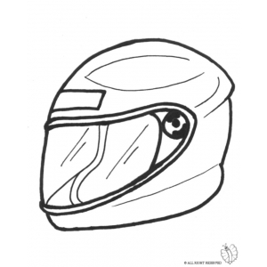 helmets coloring pages | Motorcycle Helmet Drawing at GetDrawings.com | Free for ...
