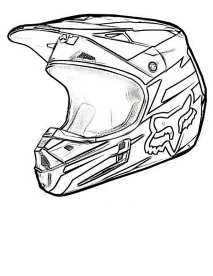 694x900 Coloring Pages Motorcycle Helmet, Printable For Kids Amp Adults, Free