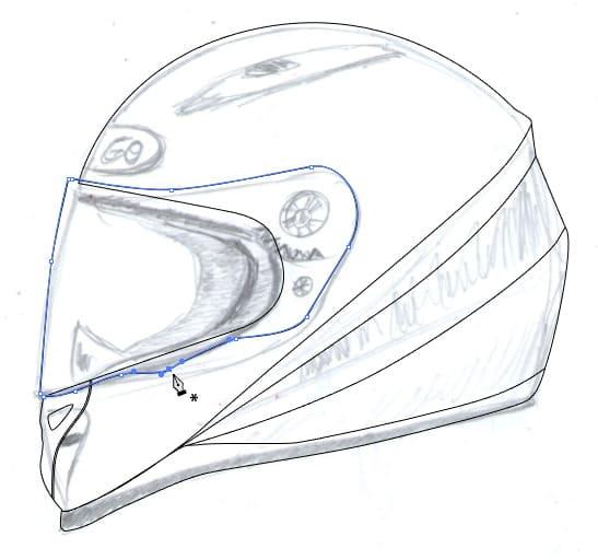 547x512 Draw Realistic Motorbike Helmet With Photoshop And Illustrator