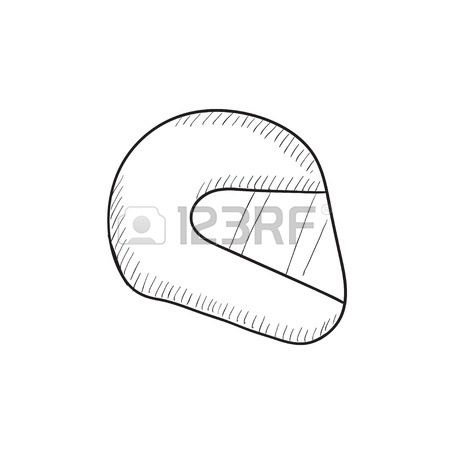 450x450 Motorcycle Helmet Vector Sketch Icon Isolated On Background