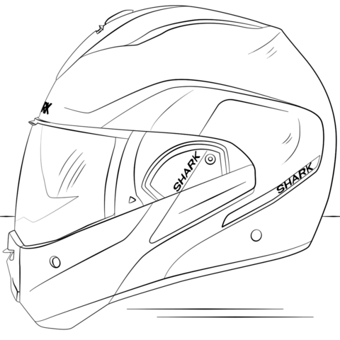 480x480 Motorcycle Helmet Coloring Page Free Printable Coloring Pages