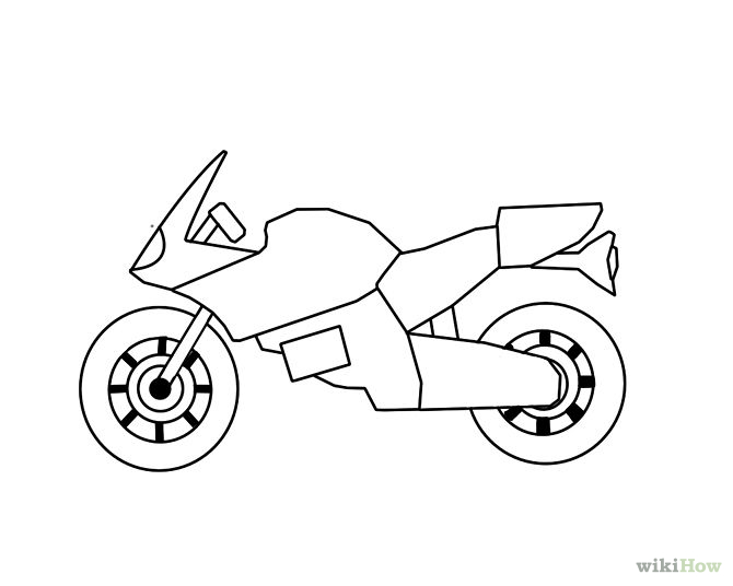 670x536 Drawn Motorcycle Simple