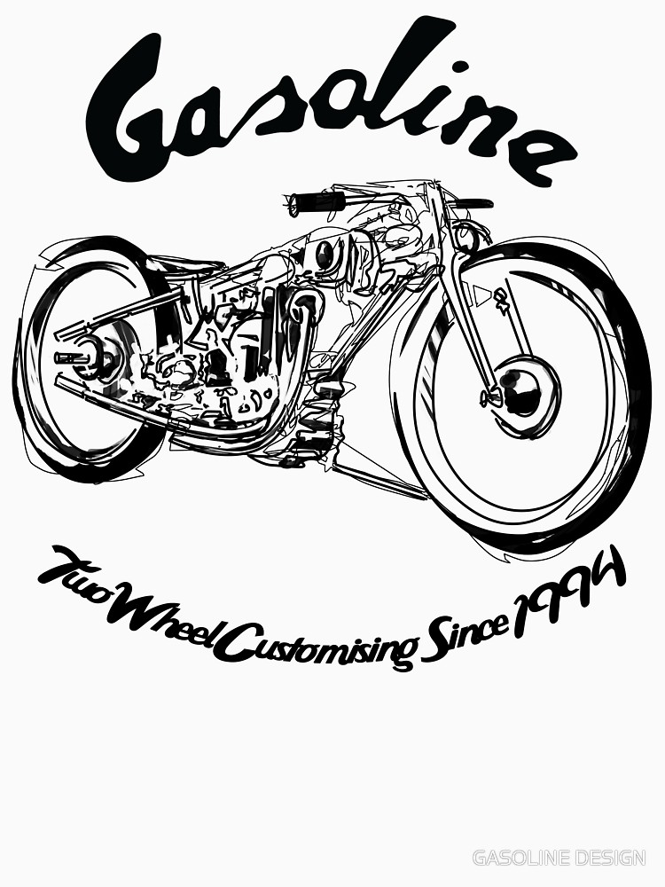 750x1000 Gasoline Scooters Amp Motorcycles Line Drawing Unisex T Shirt By