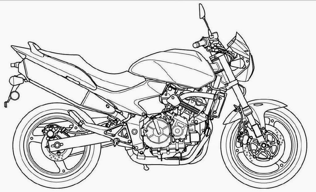 1023x622 Motorcycle Coloring Drawing Free Wallpaper Anggela Book