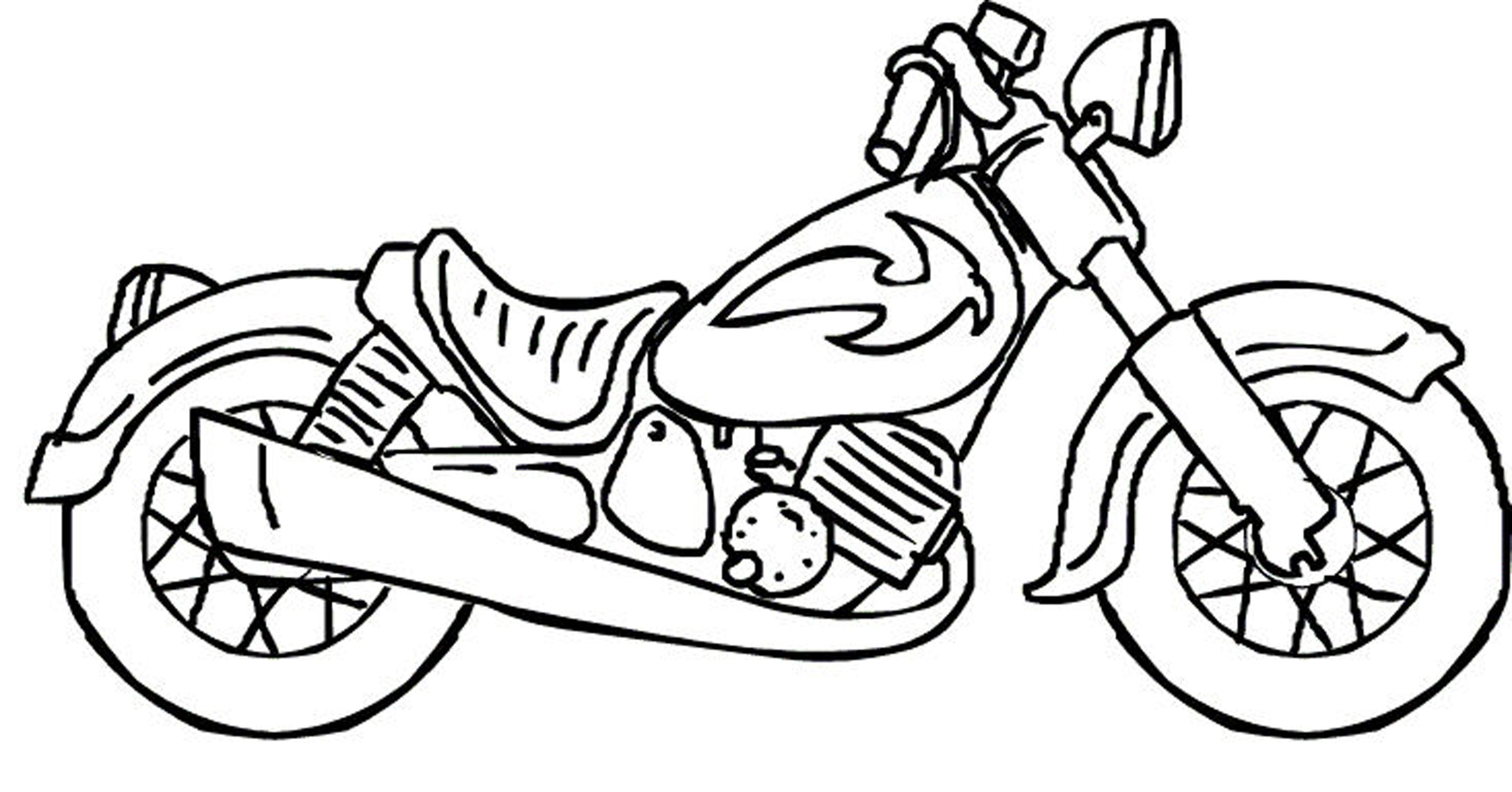 2550x1336 Motorcycle Coloring Pages Printable In Snazzy Page Printable