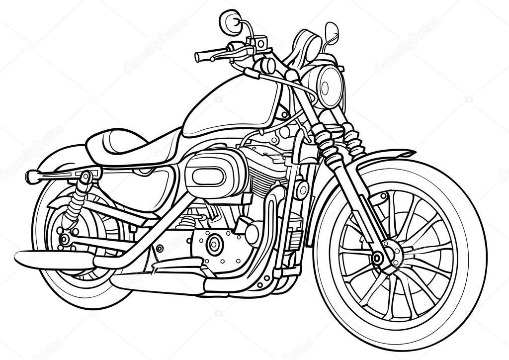 outline drawings of honda motorcycles