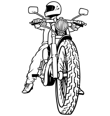 Motorcycle Rider Drawing