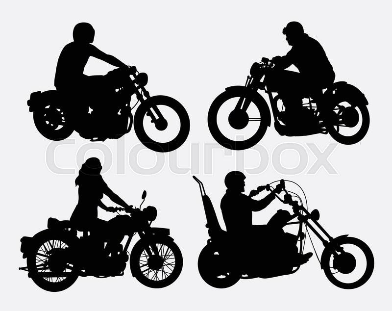 Motorcycle Rider Drawing At Getdrawings Com