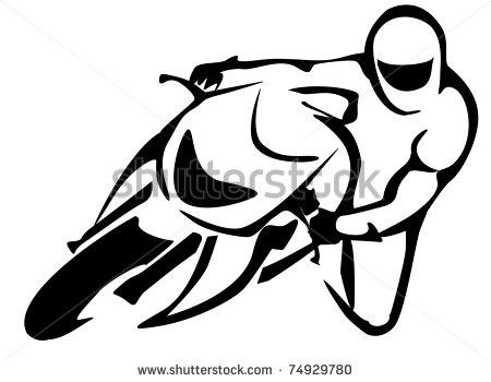 Motorcycle Simple Drawing