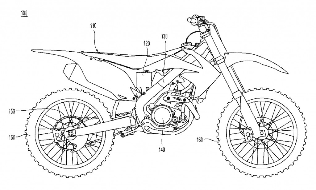 1024x618 How To Draw A Dirt Bike Easy Dirt Bike Line Drawing Sketch