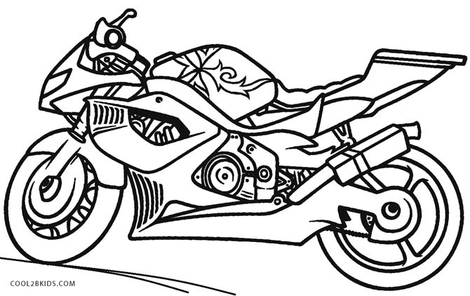 670x422 Motorcycle Coloring Pages Printable For Kids