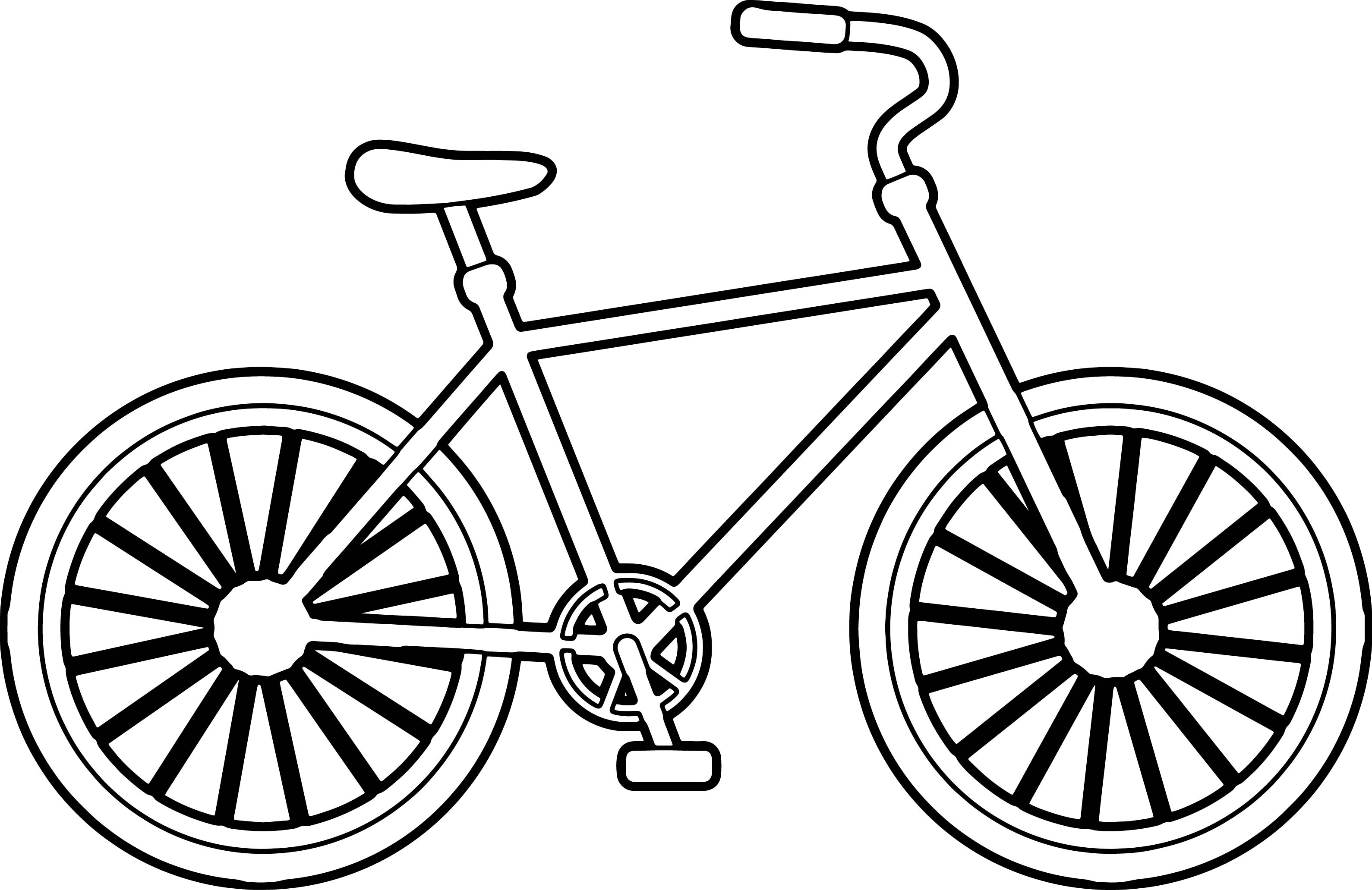 It is a picture of Luscious Bike Drawing Simple