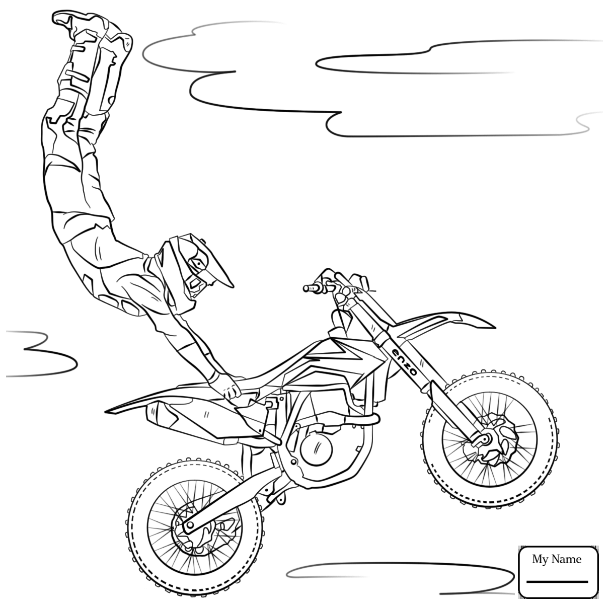 Motorcycles Drawing