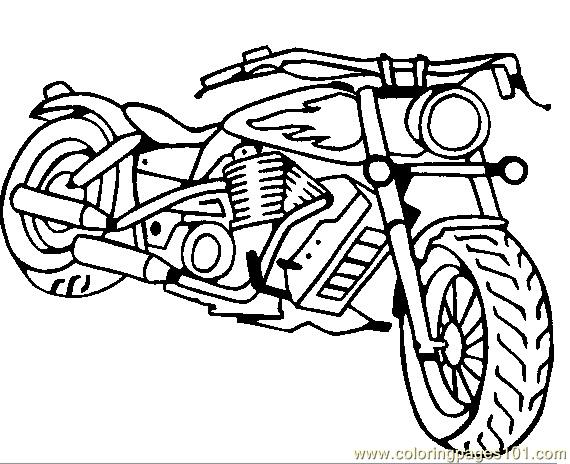 570x464 Motorcycle Coloring Page