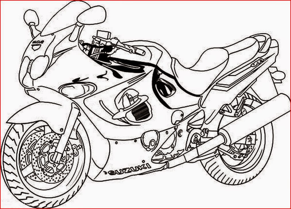 1014x728 Motorcycle Coloring Page
