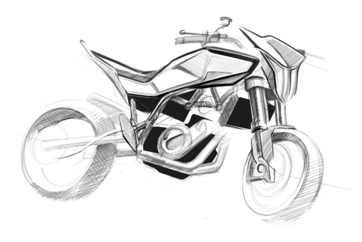 1195x800 Official Sketches Of 900cc Husqvarna Streetbike