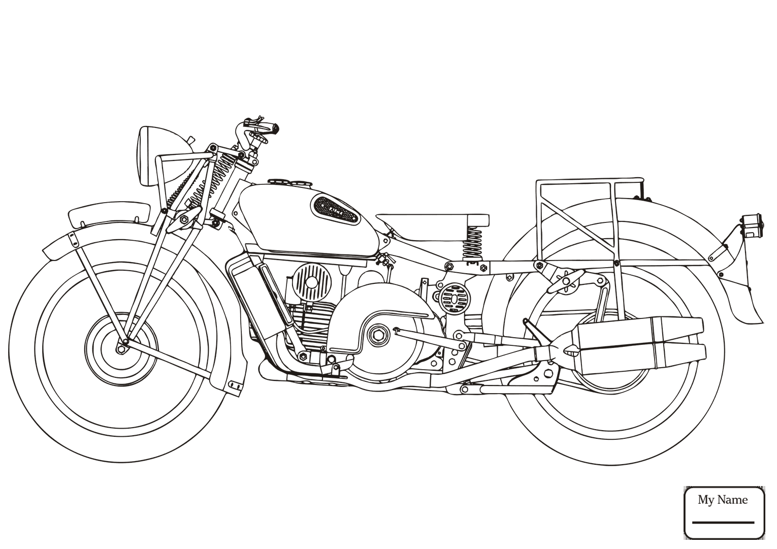motorcycles drawing at getdrawings com