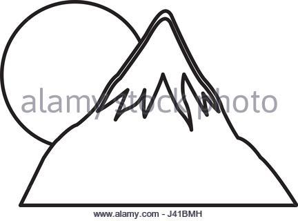 432x320 Mount Fuji Sun Japan Landscape Natural Image Stock Vector Art