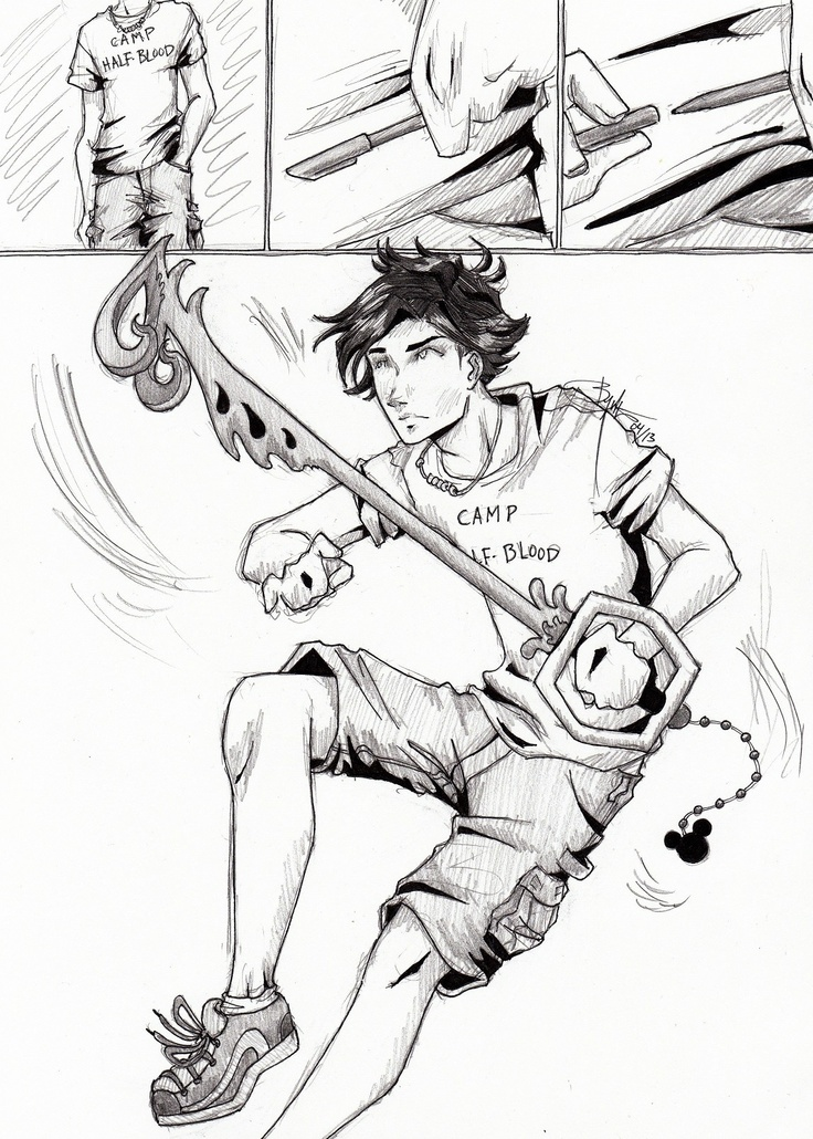 736x1030 Percy Jackson With Riptide As A Keystone Percy Jackson And