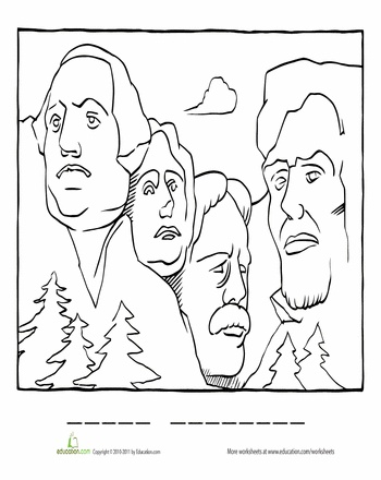 Mount Rushmore Drawing