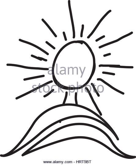445x540 Mountain Sun Drawing Stock Photos Amp Mountain Sun Drawing Stock