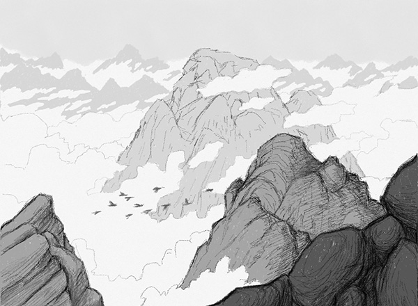 600x440 Mountains And Clouds Too Much White Paper