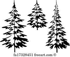 238x194 Free Art Print Of Fir Pine Trees Green Mountain Texture. Fir Pine