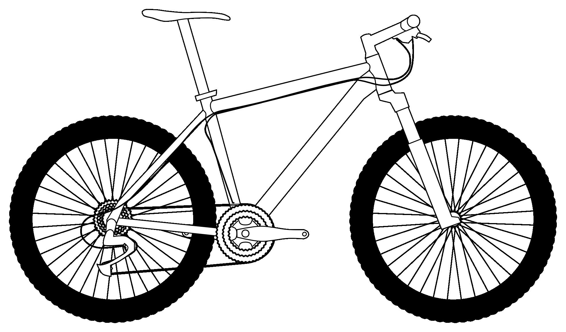 1969x1155 Drawing Mountain Bike