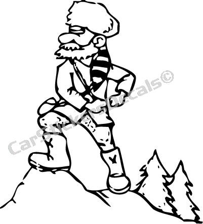 401x443 Coloring Pages Of Mountain Men