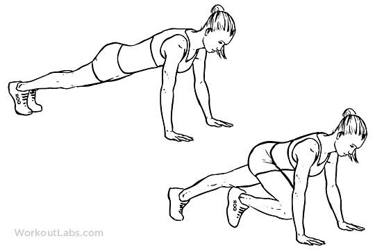 540x360 Mountain Climbers Exercise Clipart