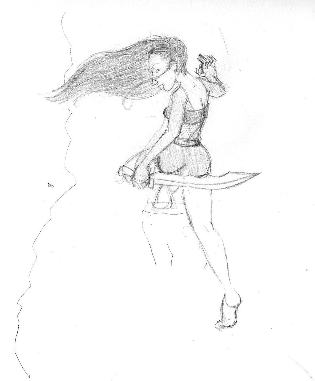 1024x1238 Mountain Climbing Sketch By Harlequenne