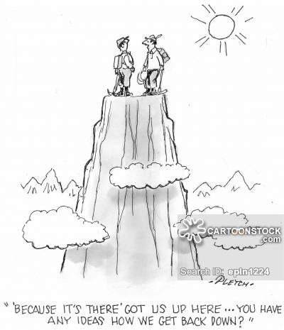 400x465 Mountain Climbing Cartoons And Comics