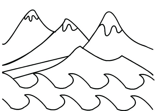 600x432 Mountain Coloring Page Days Of Creation Mountains Coloring Pages