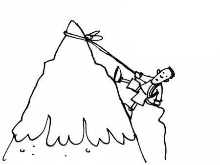 450x338 Drawn Mountain Mountain Climbing