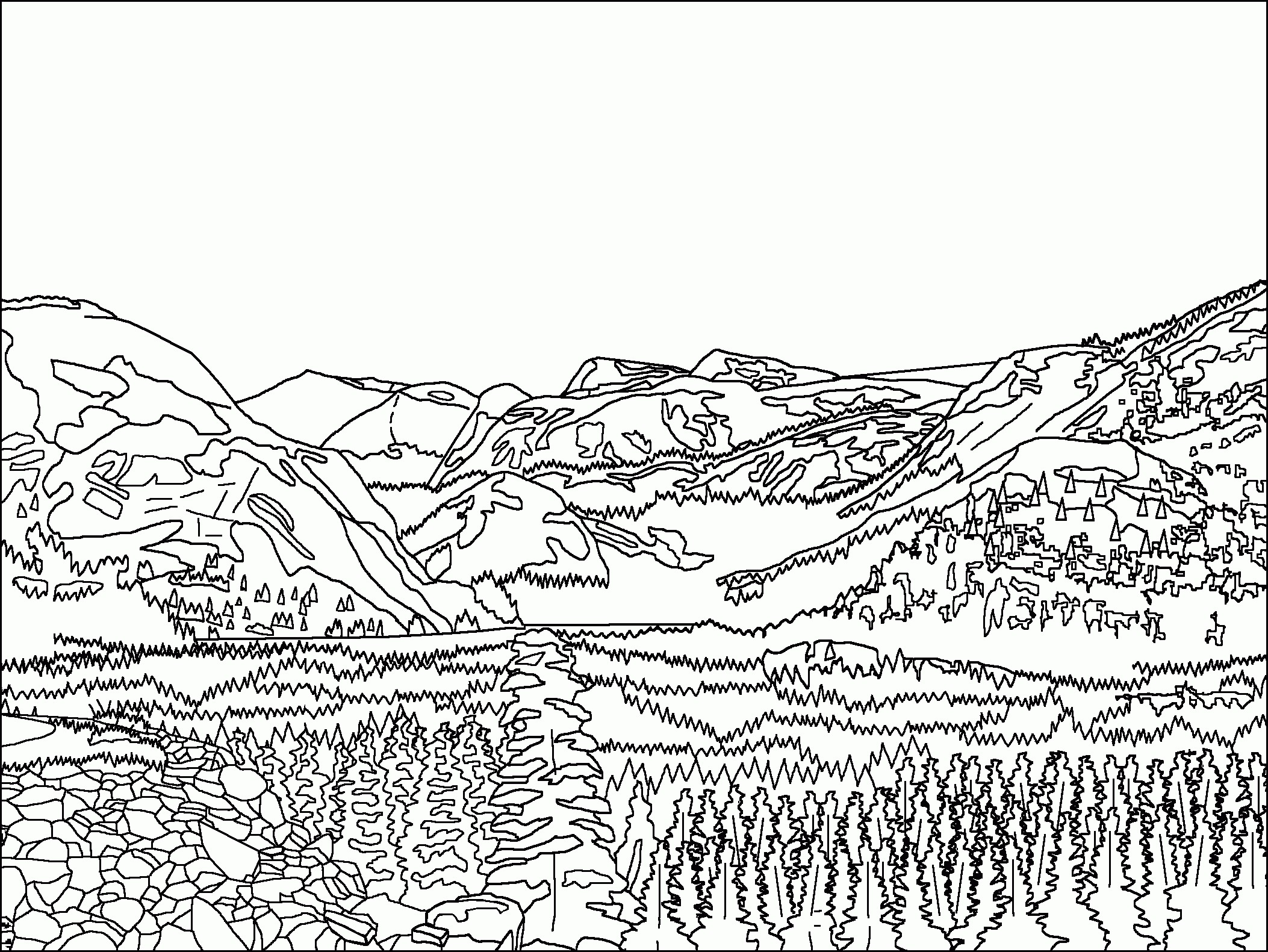 2106x1581 Mountain Coloring Page Elegant Coloring Pages Mountain Scene Adult