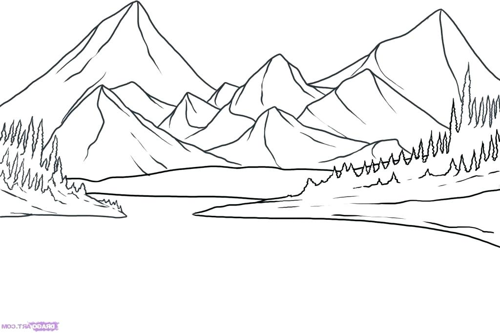 Mountain Landscape Drawing At Getdrawings Com Free For Personal