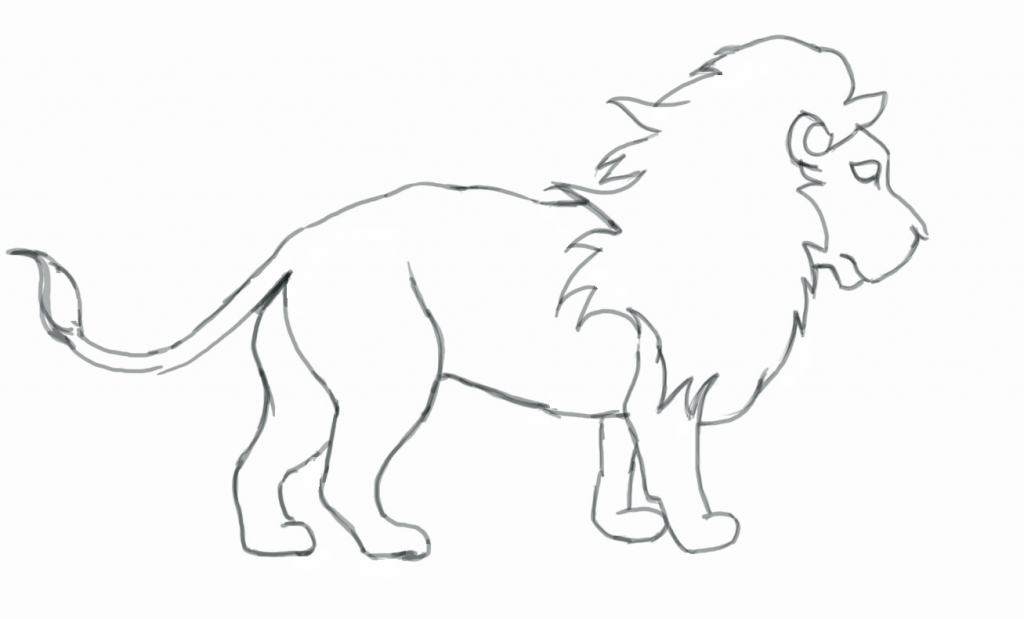 1024x619 Line Drawing Of A Lion Mountain Lion Line Drawing 6880 Line