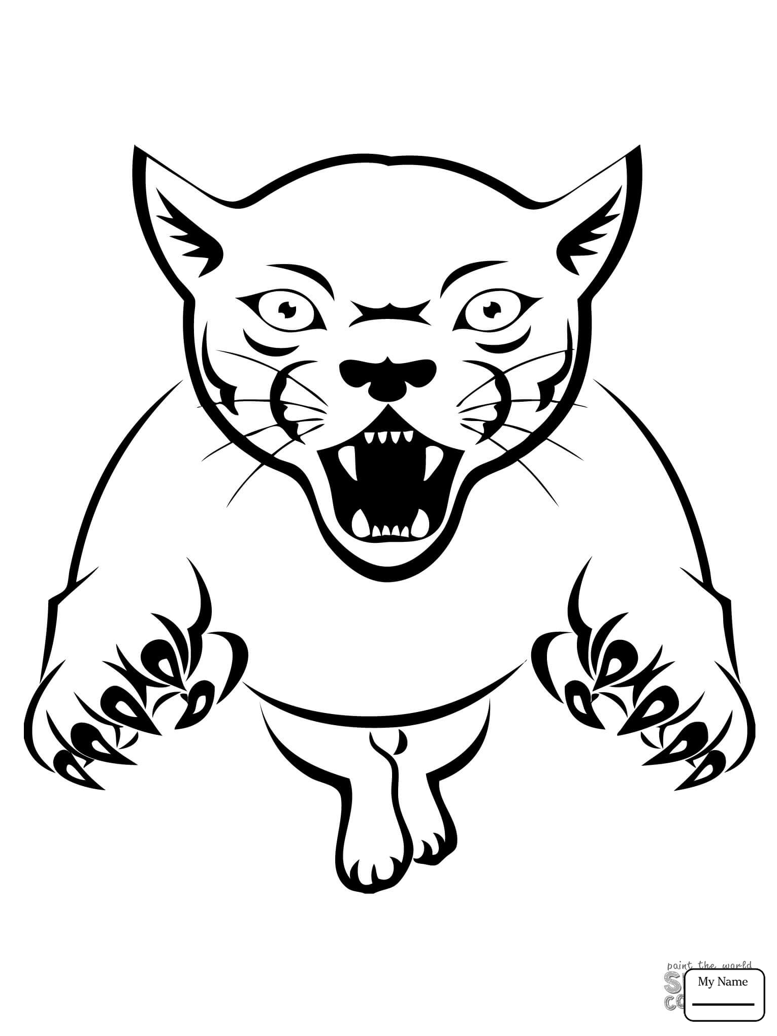 Cougar Easy Coloring Pages