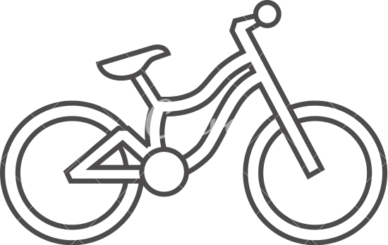 550x347 Mountain Bike Outline